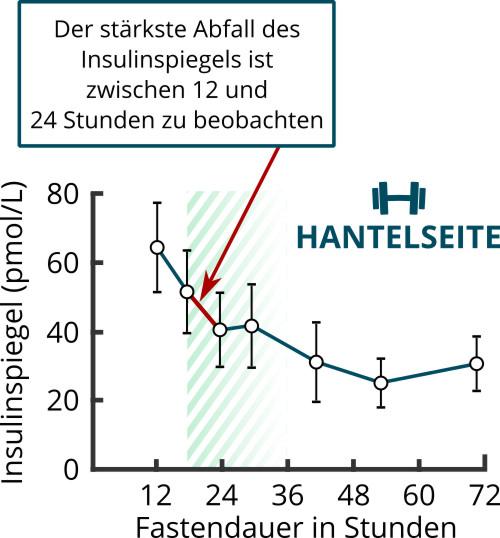 Zusammenhang zwischen Fastendauer und Insulinspiegel